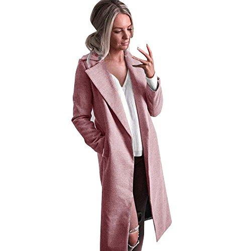 Overdose Chaqueta De Invierno para Mujer Casual Outwear Parka Cardigan Slim Coat Overcoat Invierno Abrigo...
