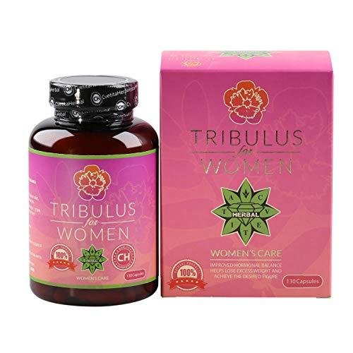 Cvetita Herbal,Tribulus para mujeres,120 Cápsulas Tribulus Terrestris búlgaro combinado con Maca Root y Siberian Ginseng Panax,Funcionamiento adecuado del sistema hormonal (120 cápsulas)