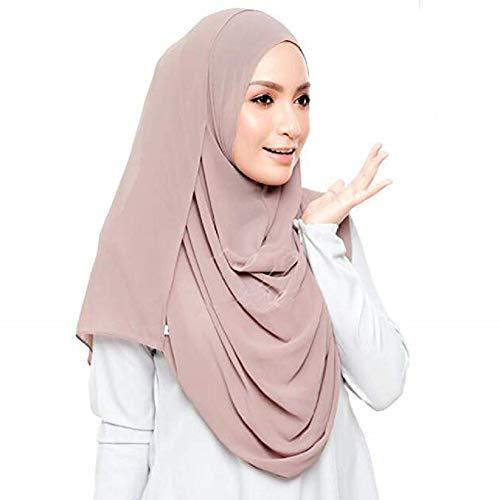 Hijab – schlammfarben – 75cm*180cm - 3