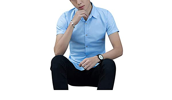 DSstyles Men Thin Berathable Color Matching Short Sleeve T-Shirt