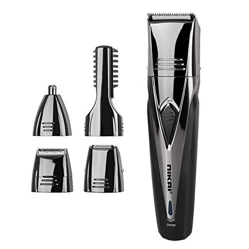 Bmakup 5 in 1 Haarschneider Elektrische Haarschneidemaschine für Männer Stahl Klinge Universal Haarschneidemaschine