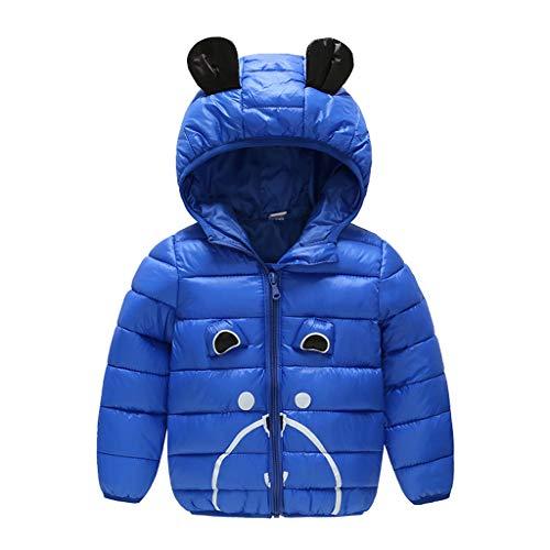 Oyedens Infant Baby Mädchen Winter Jacke Mit Kapuze Karikatur-Winddichter Mantel Warme Outwear Daunenmantel Lange Reißverschluss Mit Kapuze Mit Pelz Halsband 1-5 Jahre -