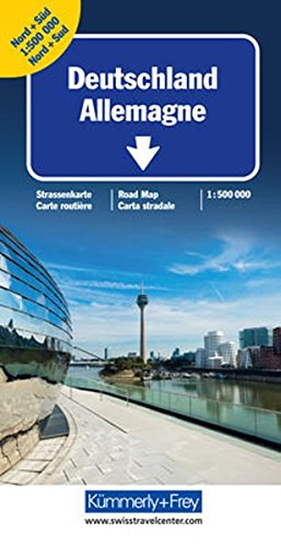 KuF Deutschland Straßenkarte 1 : 500 000: Doppelkarte