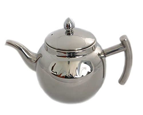 rukauf Design Edelstahl Teekanne oder Kaffeekanne mit Sieb und Deckel 1,5 Liter Чайник Design-teekanne