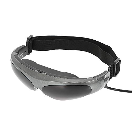 HM2 Headset-Brille Head-Mounted Display FPV-Brille 80 Zoll Virtual Wide Screen Smart-Videobrille AV-Eingangsbrille - Grau + Schwarz