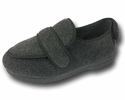 S & B Shoe, Pantofole uomo GREY----BW25