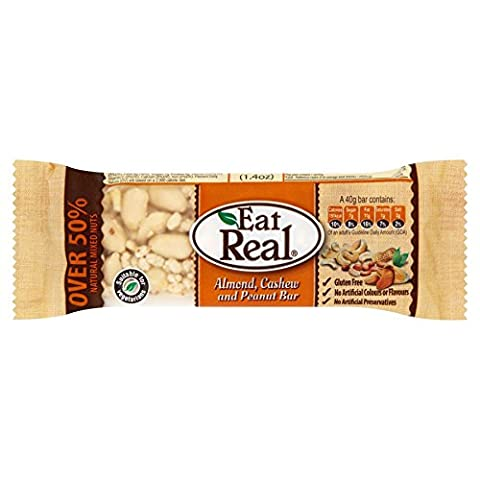 Eat Real - Almond, Cashew & Peanut Bar - 40g (Pack of 20)
