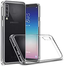 Azzil Back Cover, Premium Quality Soft [Bumper-Transparent] Perfect Fit Case Cover for Samsung Galaxy A7 2018
