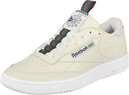 Reebok Club C 85 Mu, Scarpe da Tennis Uomo, Multicolore (Web/Chalk/Collegiate Navy/Dark Green/Red 000), 42.5 EU