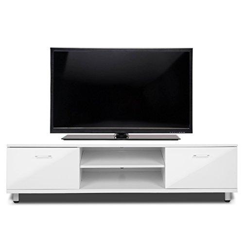 Voilamart, mobile porta TV bianco lucido, 160 cm/180 cm corpo lucido ...