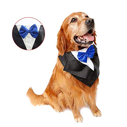 Tuxedo Neckwear Holloween Scarf Pet Dress-up Costumes Cosplay Accessories Blue ()