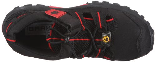BAAK Sports light 7211, Sandali da outdoor Unisex adulto Nero (schwarz/rot)