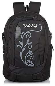 Bag-Age Flower (35 L) College 35 Liter (Black ) Casual Backpack
