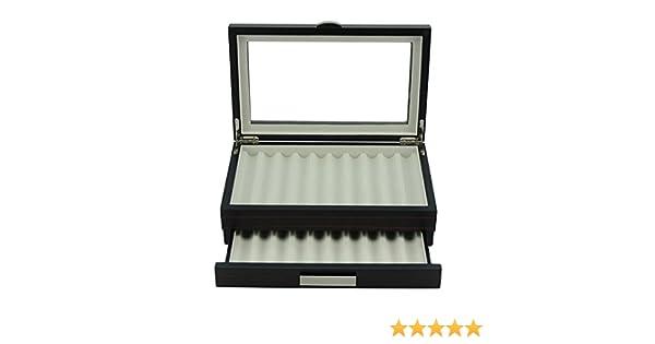 Scatola porta 27 penne da collezione Astuccio Portapenne  in legno colore Noce