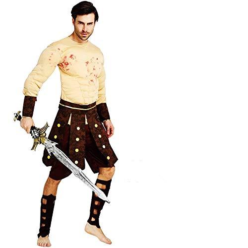 thematys Muskulöser Gladiator Spartaner Krieger Kostüm-Set für Herren - perfekt für Fasching, Karneval & Halloween - Einheitsgröße 160-180cm