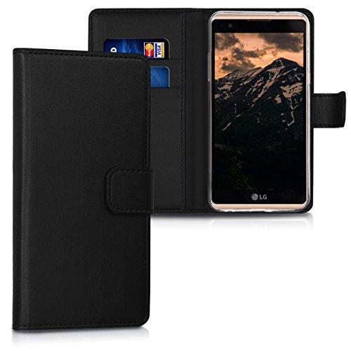 kwmobile LG X Power Hülle - Kunstleder Wallet Case für LG X Power mit Kartenfächern und Stand