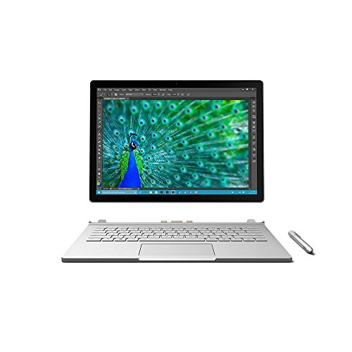 Microsoft Surface Book da 13,5 pollici, colore argento, Intel Core i7 - 6600U 2,6 GHz, 16 GB RAM, scheda grafica NVIDIA 1 GB integrata, Windows 10 Pro Silver i7, 1TB