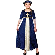 Tudor Princess (Blue) - Kids Costume 5 - 7 years