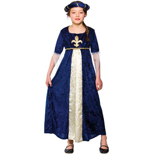 Girls Regal Princess Costume Fancy Dress Up Party Halloween Medieval Kids