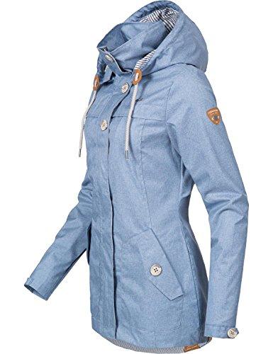 Ragwear Damen Übergangs-Jacke Like You (vegan hergestellt) Hellblau Gr. M - 3