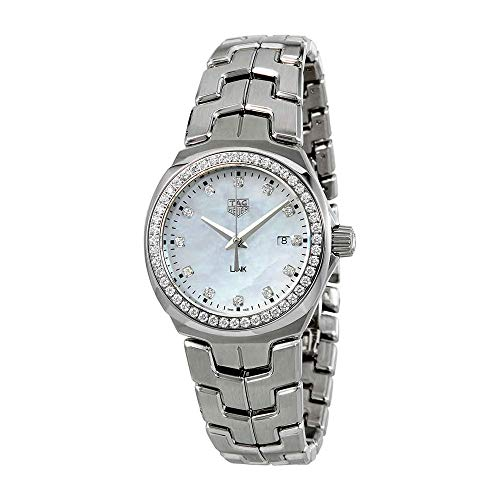 Tag Heuer Lady Link Mutter von Pearl Zifferblatt Damen Watch wbc1316. ba0600