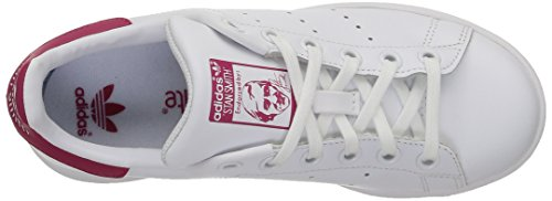 adidas Stan Smith, Baskets Basses Fille Blanc (Ftwr White/Ftwr White/Bold Pink)