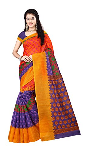 OSLC multicolor bhagalpuri silk saree priented blouse Women's Clothing Saree Collection in...