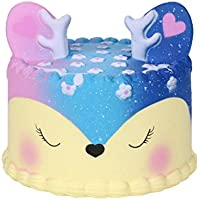 Clearance! Cartoon Cake Scented Squishy Toys, HOMEBABY 11cm Stress Relief Toys Squishy Jumbo Cream Scented Squishy Slow Rising Squeeze Strap Kids Gift Fun Soft Toy Jumbo Collection Easter Gift