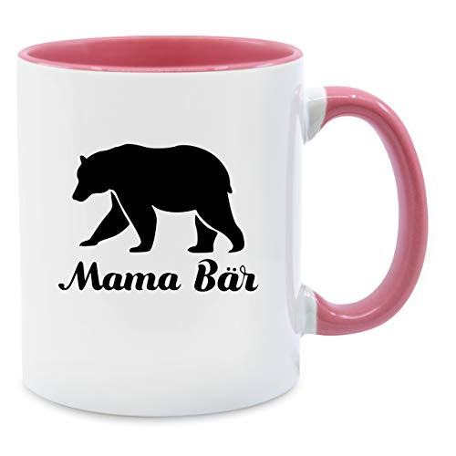 Tasse für Mama - Mama Bär - Unisize - Rosa - Q9061 - Kaffee-Tasse inkl. Geschenk-Verpackung