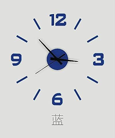 Jinxu 16 Cm Horloge Horloge Numérique Acrylique Prix Diy Stickers Décoratif Mural Amovible Stéréo Watch,16 Pouces,Bleu Saphir