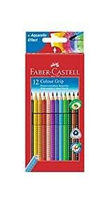 Faber-Castell 112412 - Farbstifte Colour GRIP, 12er Kartonetui