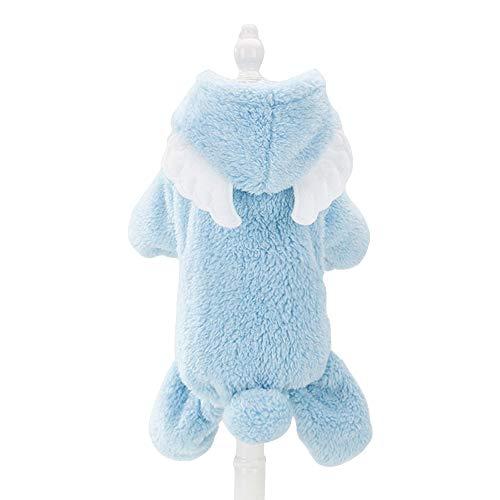 Robe Kostüm Angel - Spring Fever Hunde-Kostüm, Fleece, warm, mit Kapuze, L, B Angel