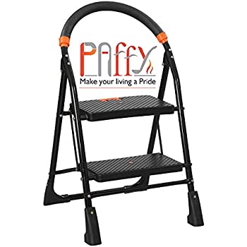 PAffy High Tensile Steel Folding Ladder with Wide Steps - 2 Steps (Clamber)