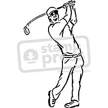 Groß A2 'Golfschwung' Wandschablone / Vorlage (WS00016156)