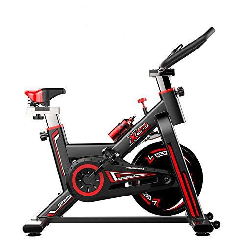 Indoor spinning bicycle ultra-quiet esercizio bike home bicicletta sport attrezzatura per il fitness aerobica training device, può essere regolata in base alle proprie,black
