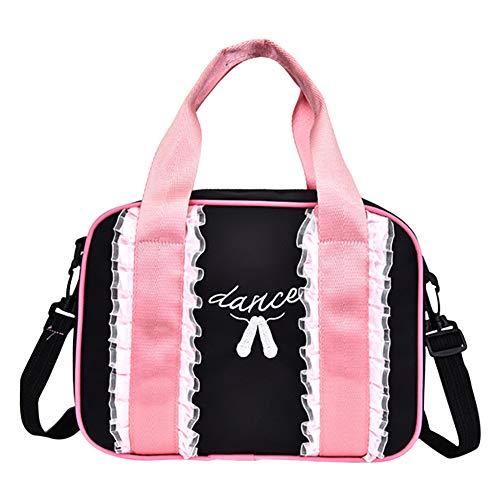 Meijunter Kids Lace Balletttasche - Dancing Duffle Bag Tragbare Ballerina Rucksack Reißfeste Schultertasche Kleinkind Casual Handtasche für Ballettschuhe Rock Ballerina Duffle Bag