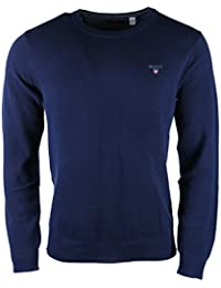 Gant Men's Men's Pique Red Sweater 100% Cotton