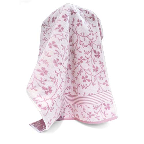 Handtuch, 33x 50cm Vintage Floral Rosa 550g/m2