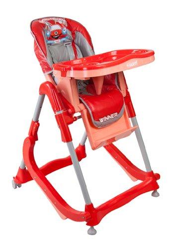 Chaise haute de bébé pour enfants ARTI Modern RT-004 Red Gray haute pour bébés avec transat, balancelle fonction