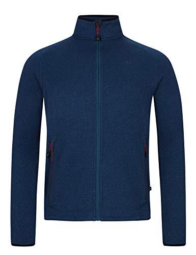 Jeff Green Herren Midlayer Schnelltrocknende Strick Fleece Jacke Nigel, Größe - Herren:52, Farbe:Deep Navy