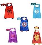 Brigamo 5 x Superhelden Kinderkostüm Kinder Kostüme, ideal für Kindergeburtstag, Fasching oder Karneval