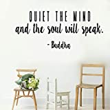 stickers muraux cuisine pas cher Wall Art Sticker Quiet the Mind and the soul will speak for living room bedroom home decor