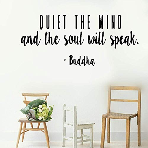 stickers muraux cuisine pas cher Wall Art Sticker Quiet the Mind and the soul will speak for living room bedroom home deco