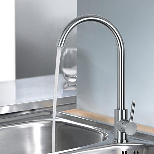 MSTJRY Küche Wasserhahn, Küchenarmatur Edelstahl, hochdruck 360° drehbar Küchen Armatur, Spülarmaturen Küche, Einhebel Spültischarmatur, Wasserhähne, Einhebelmischer Armatur