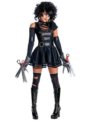 Damen Sexy Miss mit den Scherenhänden Edward Fancy Dress Kostüm–Perfekt für Verkleidungen für Halloween. Kommt in Größe ()