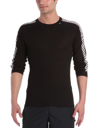 Helly Hansen Lifa Dry Stripe Crew Base Layer - Black Large