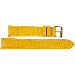 Kaiser Watch Leather Band Wrist Watch Yellow Leather Watch Strap 18 mm Clasp: Yellow 18 mm
