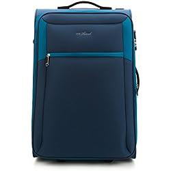 WITTCHEN Mittlerer Koffer | 62x44x27cm, 58 L, 2.6 KG | Material: Polyester, Blau | Kollektion: VIP COLLECTION - V25-3S-232-99