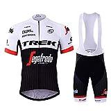 SUHINFE Costumi da Ciclismo per Uomini, Completo Ciclismo Uomo Estivo Maglia Ciclismo Maniche Corte Squadra Professionale, TK-White, M