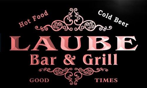 u25588-r LAUBE Family Name Bar & Grill Home Beer Food Neon Sign Barlicht Neonlicht Lichtwerbung